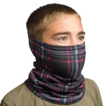 Seirus Snowthing Neck Gaiter - Fleece (For Big Kids) in Berry/Cyan - Closeouts