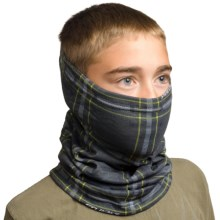 Seirus Snowthing Neck Gaiter - Fleece (For Big Kids) in Black/Lime - Closeouts