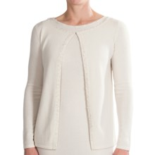 Select Belford Cashmere Beaded Cardigan Sweater (For Women) in Ivory - Closeouts