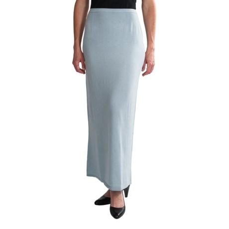 Select Belford Cashmere Skirt - Full Length (For Women) in Iceberg
