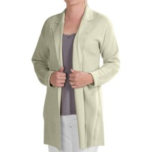 Select Belford Silk Cardigan Sweater (For Women) in Pistacho - Closeouts