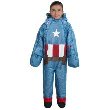 selk'bag 45°F Marvel Superhero Wearable Sleeping Bag (For Little and Big Kids) in Captain America - Closeouts