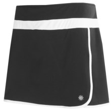 Semi-Fitted Mesh-Lined Skort (For Women) in Black - 2nds
