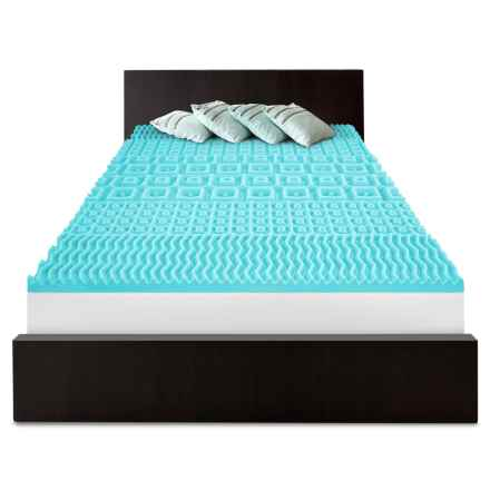 SensorPEDIC 5-Zoned Slumber Supreme Mattress Pad - Queen, Memory Foam in White - Overstock