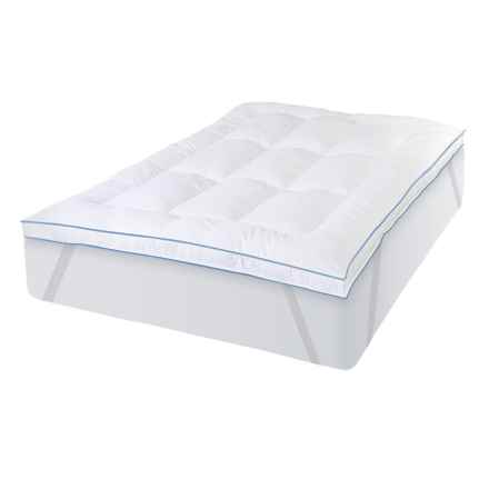 "SensorPedic MemoryLOFT Deluxe Gel Hybrid 3"" Bed Topper - King in White - Closeouts"