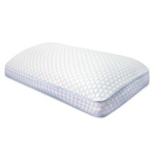 SensorPEDIC Regal Gel-Infused Memory-Foam Bed Pillow - King in White - Closeouts