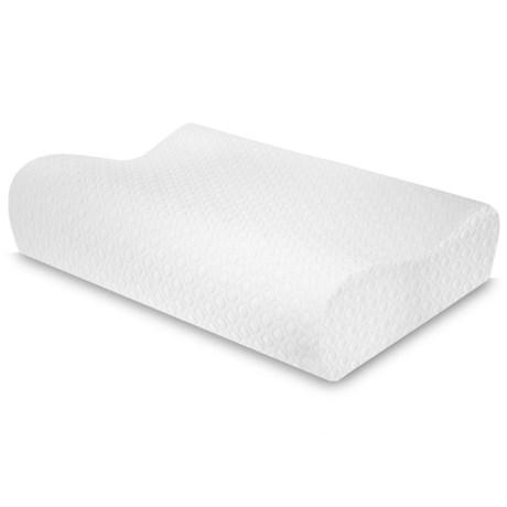 SensorPEDIC Sensorpedic Memory-Foam Cooling Gel Contour Pillow - Standard in White