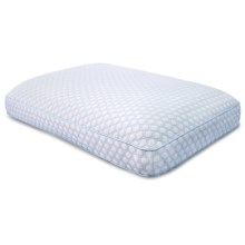 SensorPEDIC Supreme Comfort Gel-Infused Memory-Foam Pillow - Gusseted in White - Closeouts