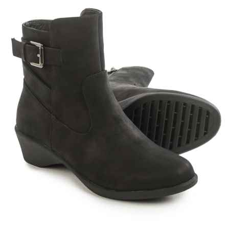 Serene Cashew Ankle Boots - Vegan Leather (For Women) in Black - Closeouts
