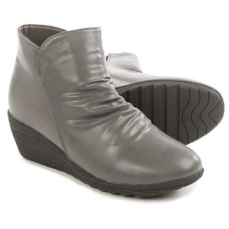 Serene Chiaral Ankle Boots - Vegan Leather, Wedge Heel (For Women)
