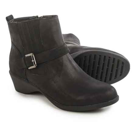 Serene Stokken Ankle Boots (For Women) in Black Nubuck - Closeouts