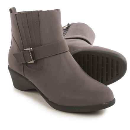 Serene Stokken Ankle Boots (For Women) in Grey Nubuck - Closeouts