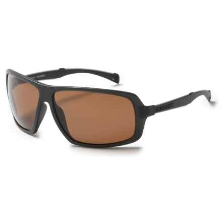 Serengeti Alassio Sunglasses - Polarized, Photochromic Glass Lenses in Satin Dark Gray/Polarized Drivers Lens - Closeouts
