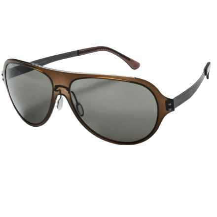 Serengeti Alice Sunglasses - Polarized in Crystal Dark Brown/Phd Cpg - Closeouts