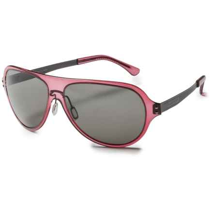Serengeti Alice Sunglasses - Polarized in Crystal Wine/Cool Photo Gray - Closeouts