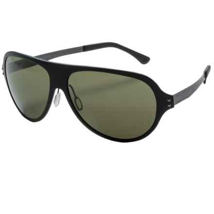 Serengeti Alice Sunglasses - Polarized in Satin Black/Phd 555 Nm - Closeouts