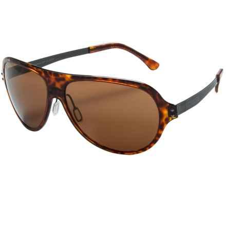 Serengeti Alice Sunglasses - Polarized in Shiny Dark Toirtoise/Phd Drivers - Closeouts