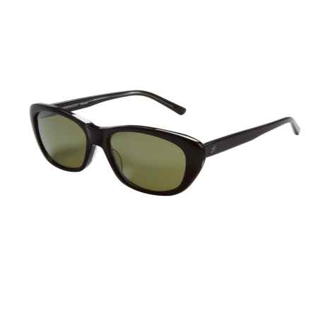 Serengeti Bagheria Sunglasses - Polarized Glass Lenses (For Women) in Black Grey Tortoise Lam/555 Nm - Closeouts
