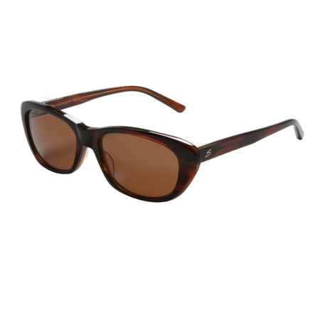 Serengeti Bagheria Sunglasses - Polarized Glass Lenses (For Women) in Dark Tortoise Honey Lam/Drivers - Closeouts