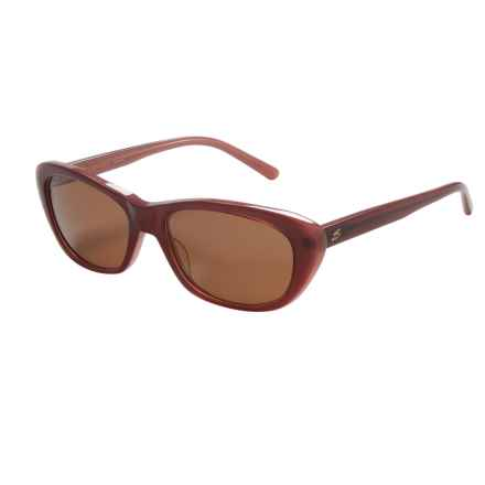 Serengeti Bagheria Sunglasses - Polarized Glass Lenses (For Women) in Wine Lam/Drivers - Closeouts