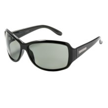 Serengeti Brea Sunglasses - Polarized (For Women) in Shiny Black/Cool Photo Gray - Closeouts