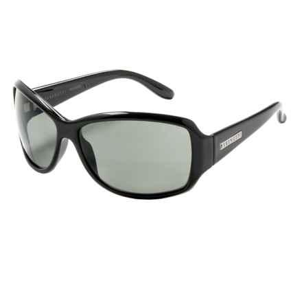 Serengeti Brea Sunglasses - Polarized, Photochromic (For Women) in Shiny Black/Cool Photo Gray - Closeouts