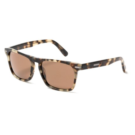 Serengeti Carlo Sunglasses - Polarized, Photochromic Glass Lenses in Mossy Tortoise
