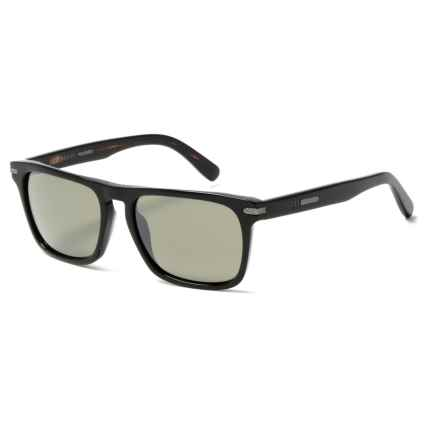 Serengeti Carlo Sunglasses - Polarized, Photochromic Glass Lenses in Shiny Black - Overstock