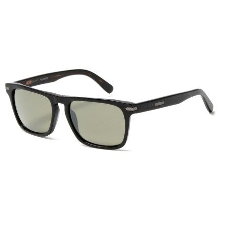 Serengeti Carlo Sunglasses - Polarized, Photochromic Glass Lenses in Shiny Black