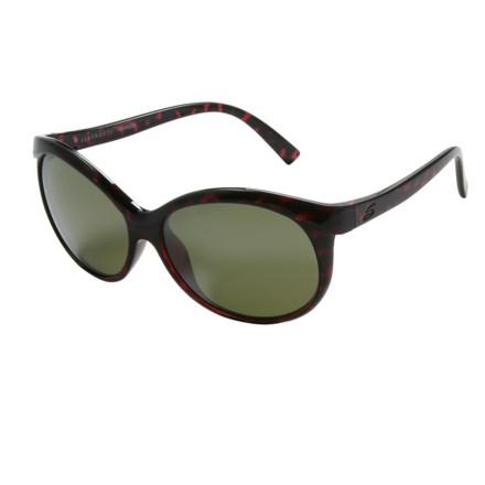 b9339517b6 Serengeti Caterina Sunglasses - Polarized Glass Lenses (For Women) in Shiny  Red Tortoise