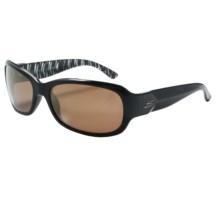 Serengeti Chloe Sunglasses - Polarized, Photochromic Glass Lenses (For Women) in Black Zebra/Drivers Gold - Closeouts