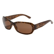 Serengeti Chloe Sunglasses - Polarized, Photochromic Glass Lenses (For Women) in Honey Stripe Tortoise/Drivers - Closeouts