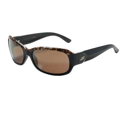 Serengeti Chloe Sunglasses - Polarized, Photochromic Glass Lenses (For Women) in Shiny Brown Cork Black/Drivers Gold - Closeouts