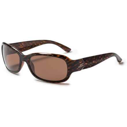 Serengeti Chloe Sunglasses - Polarized, Photochromic Glass Lenses (For Women) in Shiny Dark Brown Stripe Tortise/Photochromic Drive - Closeouts