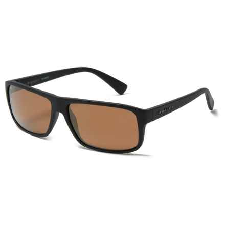 Serengeti Claudio Sunglasses - Polarized in Satin Black/ Gold - Overstock