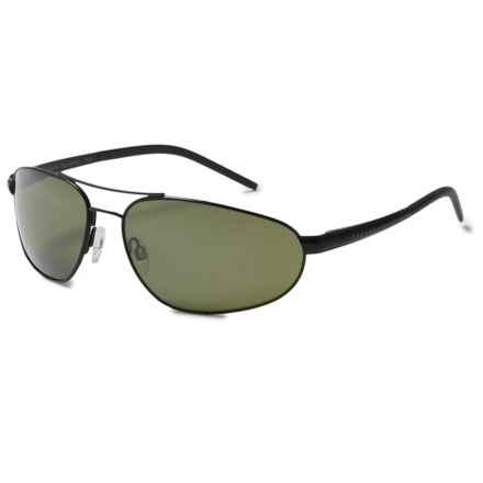 Serengeti Como Sunglasses - Polarized, Photochromic Glass Lenses in Satin Black/Polarized 555Nm - Closeouts