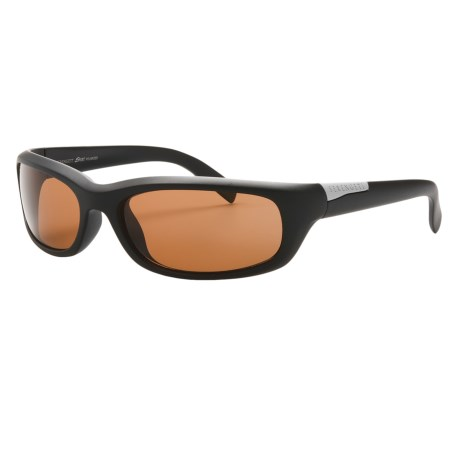 Serengeti Coriano Sunglasses - Polarized, Photochromic, Polar PhD Lenses in Satin Black/Phd Drivers