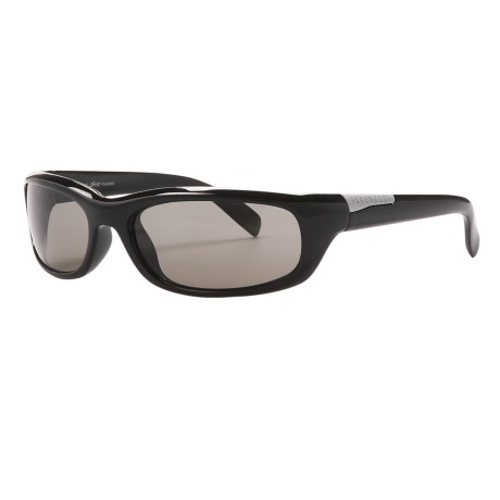 Serengeti Coriano Sunglasses - Polarized, Photochromic, Polar PhD Lenses in Shiny Black/Phd Drivers