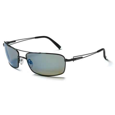 Serengeti Dante Sunglasses - Polarized Glass Lenses in Shiny Dark Gunmetal/555Nm Blue Mirror - Closeouts