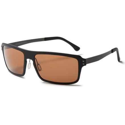 Serengeti Duccio Sunglasses - Polarized, Photochromic Polar PhD Lenses in Satin Black/Photochromic Polarized Phd 555Nm - Closeouts