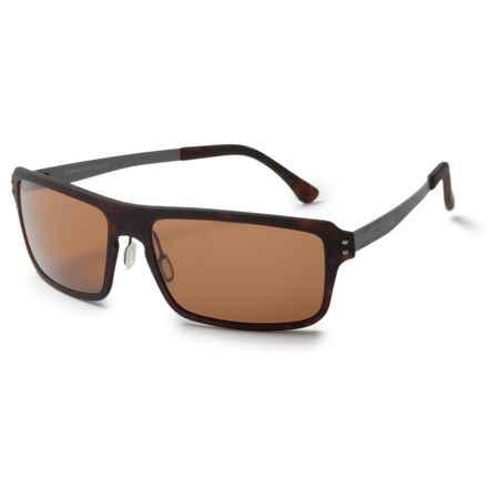 Serengeti Duccio Sunglasses - Polarized, Photochromic Polar PhD Lenses in Satin Dark Tortoise/Photochromic Polarized Phd 555 - Closeouts