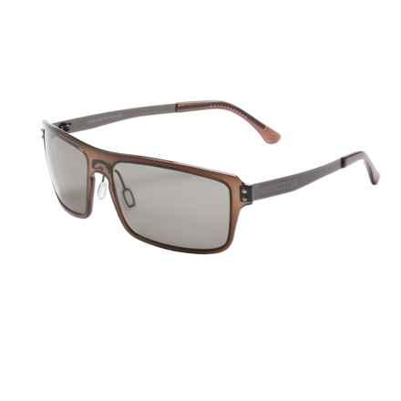 Serengeti Duccio Sunglasses - Polarized Polar PhD Lenses in Crystal Dark Brown/Cool Photo Grey - Closeouts