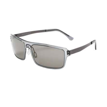 Serengeti Duccio Sunglasses - Polarized Polar PhD Lenses in Crystal Dark Grey/Cool Photo Grey - Closeouts
