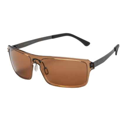 Serengeti Duccio Sunglasses - Polarized Polar PhD Lenses in Crystal Photo/Driver - Closeouts