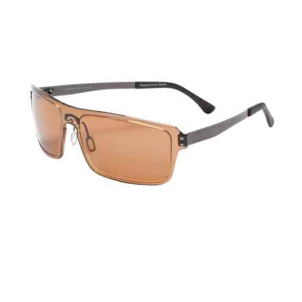 Serengeti Duccio Sunglasses - Polarized Polar PhD Lenses in Crystal Photochromic Brown/Drivers - Closeouts