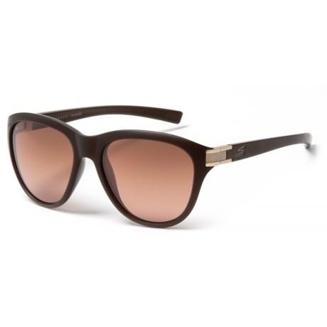 Serengeti Elba Sunglasses - Polarized, Photochromic 555nm Glass Lenses (For Women) in Sanded Crymirror/Gradient
