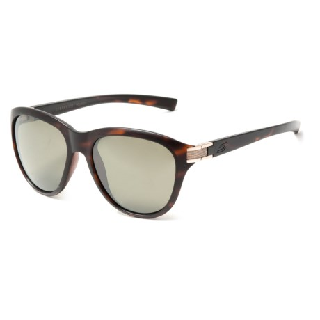 Serengeti Elba Sunglasses - Polarized, Photochromic 555nm Glass Lenses (For Women) in Satin Dark Tortoise