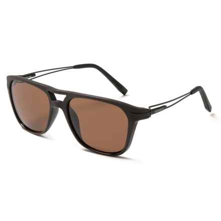 Serengeti Empoli Sunglasses - Polarized Glass Lenses in Shiny Matte Brown/Drivers - Closeouts