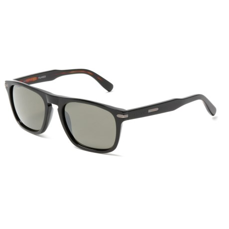 Serengeti Enrico Sunglasses - Polarized, Photochromic Glass Lenses in Shiny Black/Dark Tortoise