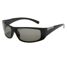 Serengeti Fasano Sunglasses - Polarized, Photochromic, Polar PhD Lenses in Shiny Black/Cool Photo Grey - Closeouts